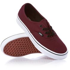 Vans Authentic Shoes Port Royale/Black ($68) ❤ liked on Polyvore
