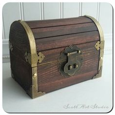 Treasure Chest, Treasure Box, Pirate Chest, party favor 6×4×4, Custom Engraved by ScottArtStudio on Etsy https://www.etsy.com/listing/274159240/treasure-chest-treasure-box-pirate-chest