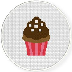FREE for Nov 19th 2015 Only - Ultimate Chocolate Cupcake Cross Stitch Pattern