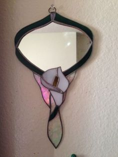 Stained Glass Hand Held Mirror