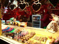 Även på en tysk julmarknad hittar man marknadskarameller och godis.