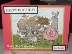 Happy Birthday #stampinup #vicsartisticcreations  #fromtheherd #stampinwritemarkers