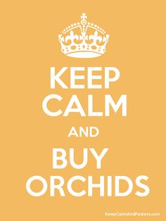 Keep Calm and BUY   ORCHIDS Poster