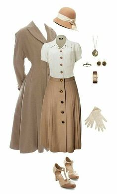 vintage outfits for women ~ vintage outfits ; vintage outfits for women ; Look Retro, Look Vintage, Vintage Mode, Vintage Hats, 50s Look, Vintage Outfits, Fashion Vintage, 1940s Outfits, Modern 50s Fashion