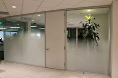 Gradient frost window film for this Los Angeles office