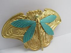 Dragonfly Hair Clip Art Nouveau Angelina Verbuni Designs Made in America Hair Clips Dragonfly Barrette *** Check out the image by visiting the link.
