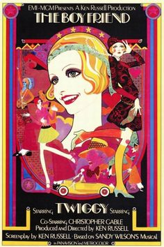 The Boy Friend film poster  Starring Twiggy  1971