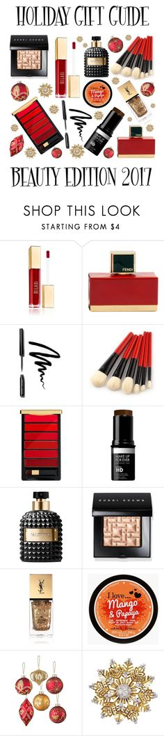 """Holiday Gift Guide: The Beauty Edition"" by latoyacl ❤ liked on Polyvore featuring beauty, Fendi, Bobbi Brown Cosmetics, L'Oréal Paris, MAKE UP FOR EVER, Valentino, Yves Saint Laurent, Improvements and Van Cleef & Arpels"