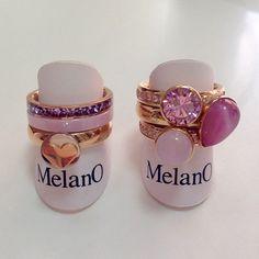 Melano inspiratie#bemelmansjuweliers#melano#twisted#side#rings#heart#pink#mixandmatch#ringcandy