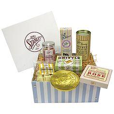 Mr Stanley's Sweet Hamper presented in a candy stripe box - John Lewis