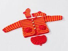 Kostenlose Anleitung: Baby-Outfit in Streifenoptik - Initiative Handarbeit