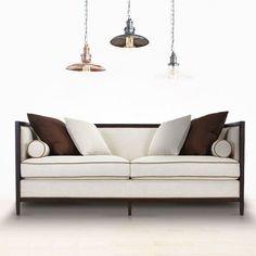 东西合意\简\现代新中式麻色皮布沙发 仿...