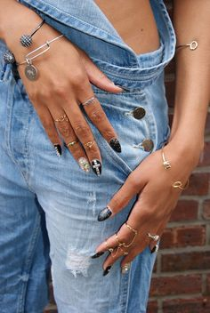 loving all the jewelry, and the NAILS!