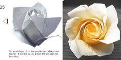 Buquê de origami     Entre para aprender o passo a passo:   http://www.capitolromance.com/2011/09/21/diy-how-to-origami-paper-f...