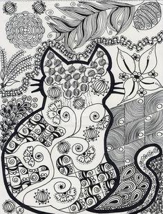 Cat Frame By DiePoesie DeviantArt Coloring