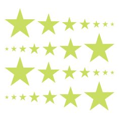 Chartreuse Stars Vinyl Wall Decals #decals #stickers #decalvenue