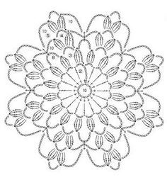 crochet flower ...motifs 21..