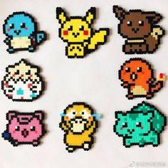 Chibi Pokémon Pokemon Perler Beads, Diy Perler Beads, Perler Bead Art, Pearler Beads, Hama Beads Design, Hama Beads Patterns, Beading Patterns, Peyote Patterns, Pixel Art