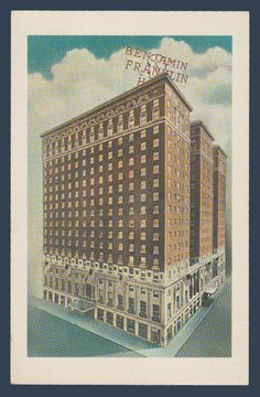 Postcards - United States #  856 - The Benjamin Franklin Hotel, Philadelphia, Pennsylvania