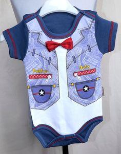 Baby Kurzam  Body - Babybody für Junge Gr. 80 /BBJ7/