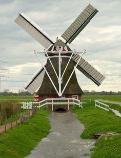 Polder mill De Eolus, Aduard, the Netherlands