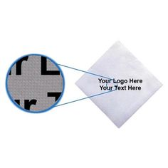 """10 x 10 Inch Custom Imprinted Lasting Impression Beverage Napkins: Available Color: White. Product Size: 10"""" x 10"""". Imprint Area: 3.5 x 3.5. Case Weight: 21 lbs. Packaging: 2500. Material: Recycled Fabric. #customnapkins #promotionalproduct  #tradeshowgiveaway #BeverageNapkins"""