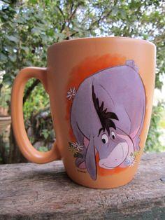 "Disney Winnie the Pooh ""Eeyore Mug"" Orange Color Mug | eBay"
