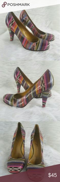 Vince Camuto Multicolor Sabrina Pumps All leather multi color excellent wardrobe statement.  Have been tried on but never worn out.  Sorry No box. Vince Camuto Shoes Heels