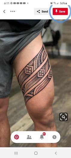 Thigh Band Tattoo, Leg Band Tattoos, Tribal Band Tattoo, Band Tattoos For Men, Tribal Forearm Tattoos, Polynesian Tribal Tattoos, Armband Tattoo Design, Tribal Tattoos For Men, Maori Tattoo Designs