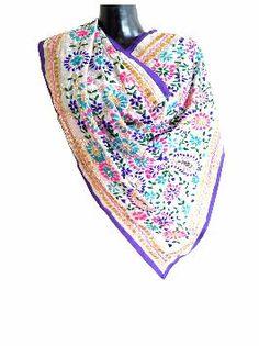 Buy Phulkari Dupatta, Silk Salwar Suits, Kantha Stoles, Block Print Dupatta Online