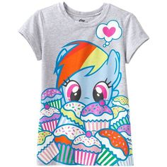 Mighty Fine My Little Pony Rainbow Dash Tee - Girls 7-16 (21 BRL) ❤ liked on Polyvore featuring tops, shirts, t-shirts and baby