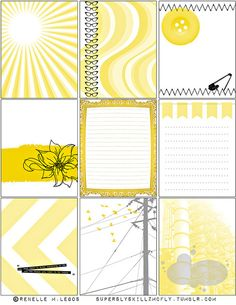 Artistic Yellow Journaling Card Freebie for Project Life