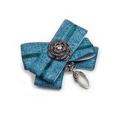 Jeans and brooch together plus silver micro pave setting jewellery, that is casual luxury by House of April