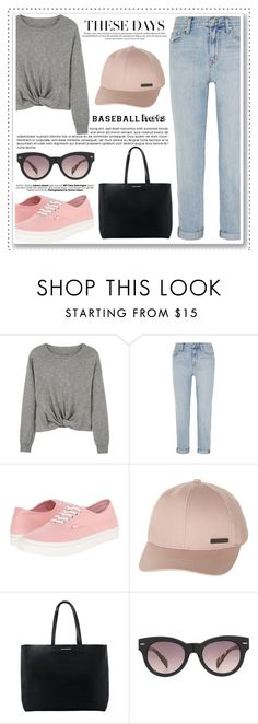 """Top Hat: Baseball Cap Style"" by alaria ❤ liked on Polyvore featuring MANGO, Madewell, Vans, Billabong, baseballcap and baseballhats"