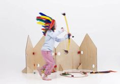 Play plywood screen from Swedish Little Red Stuga