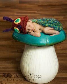 Cuddle Critter Cape  Caterpillar  Newborn by calleighsclips, $40.00