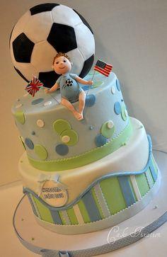 Soccer Ball Baby Shower by Stephanie (Cake Fixation), via Flickr
