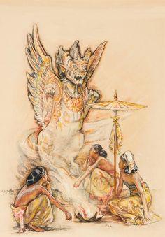 Balinese offering,  Willem Gerard Hofker
