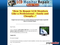 #LCD_Monitor_Repair Made Easy High Definition Step-By-Step instructional #videos guiding you all the way from the very basics to the most advanced #LCD troubleshooting techniques.