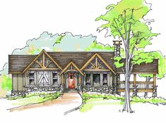 Tom Cat Front Elevation -- Natural Element Homes.. prefab inexpensive