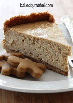 Gingerbread Cheesecake Recipe from @bakedbyrachel