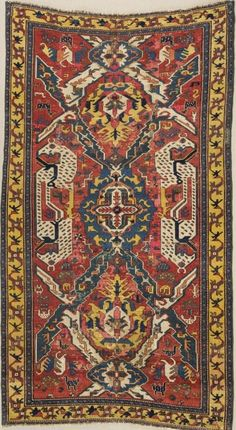 Caucasian dragon rug, 305 cm x 160 cm, 18th century, Pergamon Museum, Islamic Art Museum, Berlin