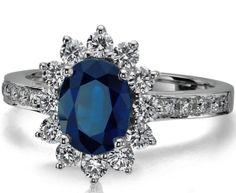Engagement Ring Blue Diamond 47