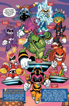 Silver Sonic Robot | Roboticized Masters - Mobius Encyclopaedia - Sonic the Hedgehog Comics