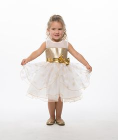 PIN TO WIN: Girls Lace Top Golden Snowflake Christmas & Holiday Dress: Clothing #princesschristmas