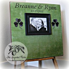 Irish Wedding Guest Book Alternative, Wedding Picture Frame, Signature Custom Guestbook 20X20 100 to 150 Guests