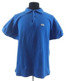 98755b3287dc Lacoste Bright Blue Cotton Pique Polo Golf Shirt Size 8 XL Croc France Peru   Lacoste  PoloRugby