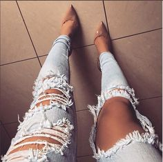 These jeans are very cute and give off a b it of a rocky pop vibe so would be good for my audience which enjoy pop/rock music
