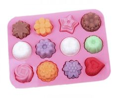New Silicone Molds Muffin Tray Candy Cupcake Jelly Pan Flowers Bakeware Moulds #NewSiliconeChina