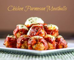Chicken Parmesan Meatballs for #AppetizerWeek